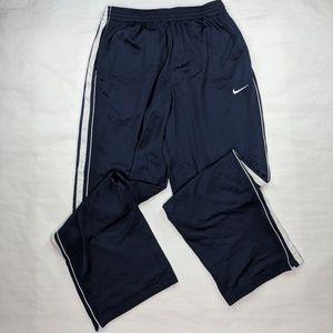 Vtg Nike Track Pants Blue White XL